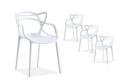 HERRERA - Set of 4 White Replica Philippe Starck Masters Kids Chairs