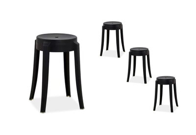 RISCO - Set of 4 Black Stools