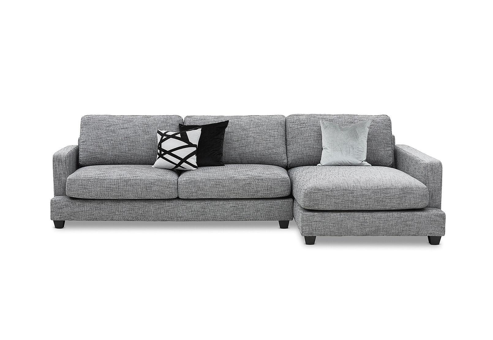 Dark Grey Arianna Fabric Right Hand Facing 3 Seater Chaise Amart Furniture