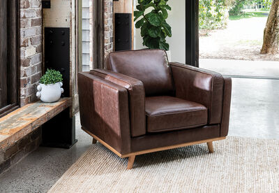 GIORGIO - Leather Accent Chair