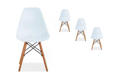 TAMA - Set of 4 White Replica Eames Kids Chairs