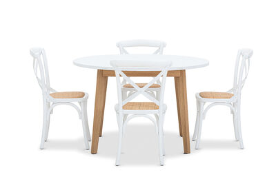 ALYSSA - 5 Piece Dining Suite with Bordeaux  Dining Chairs
