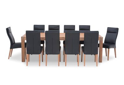 SILVERWOOD - 11 Piece Dining Suite with Asheville Chairs