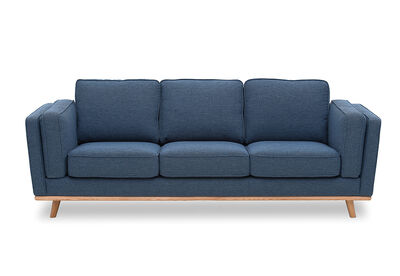 LORAS - Fabric 3 Seater Sofa