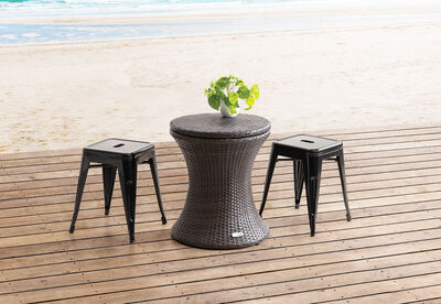 ADAMANT - Brown Outdoor Cooler Table