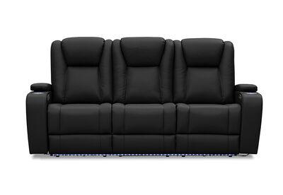 OPTIMUS - Leather-Look 3 Seater Sofa