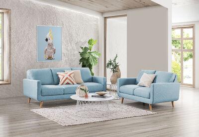 PHOEBE - Fabric Sofa Pair