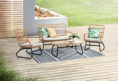 LACY - 4 Piece Outdoor Lounge Setting