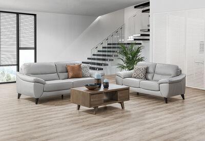 COHEN - Leather Sofa Pair