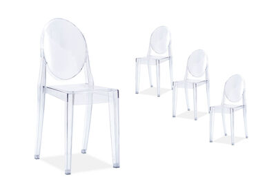 MIETTE - Set of 4 Replica Philippe Starck Victoria Ghost Chairs