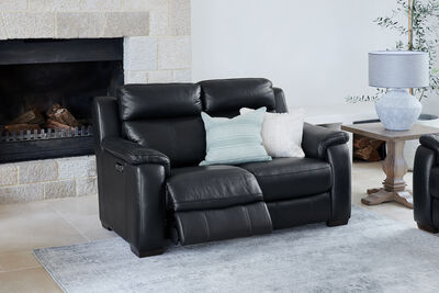 CAPELLO - Leather 2 Seater Sofa with 2 Inbuilt Electric Recliners
