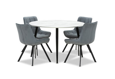 AMARAH - 5 Piece Dining Suite with Blaze Dining Chairs