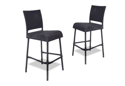ALBERT - Set of 2 Black Bar Stools