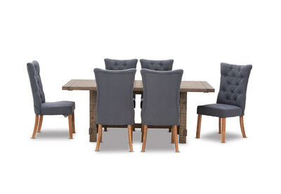 WINSLOW - 7 Piece Dining Suite with Nottingham Dining Chairs