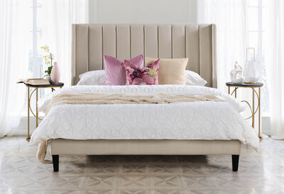 CHAUMONT - Cream Queen Bed