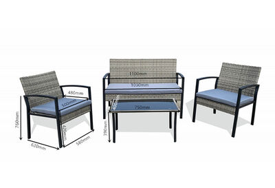 HUGHENDEN - 4 Piece Outdoor Lounge Setting