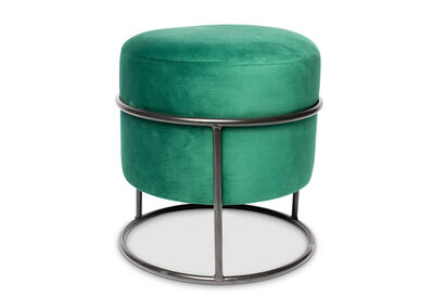 ACTIVE - Green Velvet Ottoman with Stand