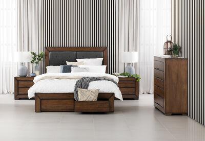 BOULDER - 4 Piece Queen Tall Chest Bedroom Suite