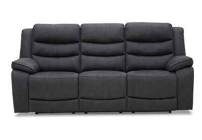 ASHLEIGH - Fabric 3 Seater with 2 Built in Electric Recliners