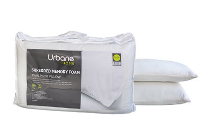 URBANE HOME - 2 Pack Shredded Memory Foam Pillows
