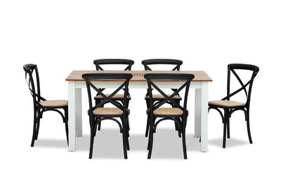 KOTA - 7 Piece Dining Suite with Bordeaux Dining Chairs