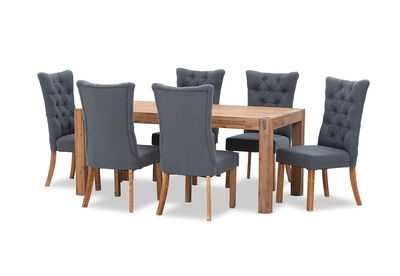 SILVERWOOD - 7 Piece Dining Suite with Nottingham Dining Chairs