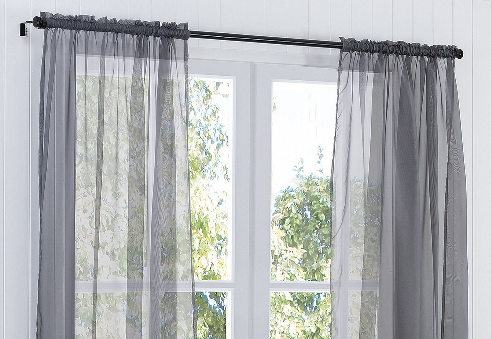 MIST Voile Rod Pocket Curtain with Hemming Tape 135 x 290cm ...
