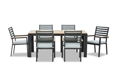 MORNINGTON - 7 Piece Outdoor Dining Setting