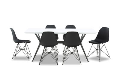 BLAZE - 7 Piece Dining Suite with Overo Dining Chairs