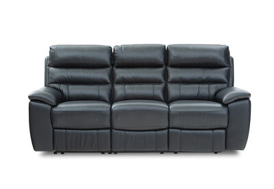 SELLARONDA - Leather 3 Seater with Inbuilt Recliners