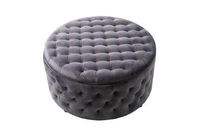 THORNBURY - Grey 900 Round Ottoman