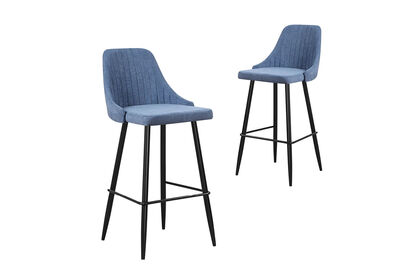 ALMERIA - Set of 2 Bar Stools
