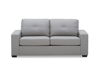 DIAMOND - Leather-Look 2.5 Seater Sofa Bed