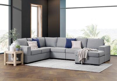 BENJAMIN - Fabric Corner with Reversible Chaise