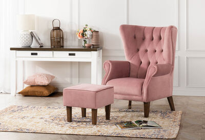 SHREWSBURY - Wing Chair and Ottoman Set