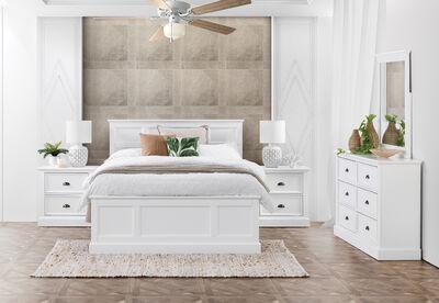 CHRYSTELLE - 4 Piece King Dresser Bedroom Suite