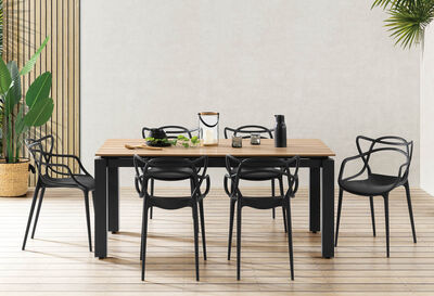 HERRERA - Set of 4 Black Replica Philippe Starck Masters Chairs