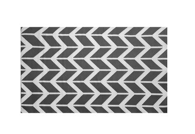 FLORIAN - Grey Chevron Outdoor Rug