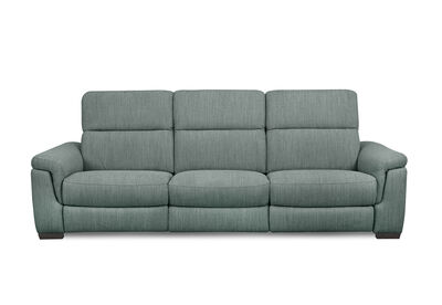LUCIANO - Fabric 3.5 Seater Sofa with 2 Electric Recliners