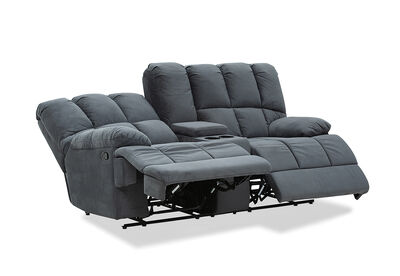 SPARTACUS - Fabric 2 Seater Sofa with Console
