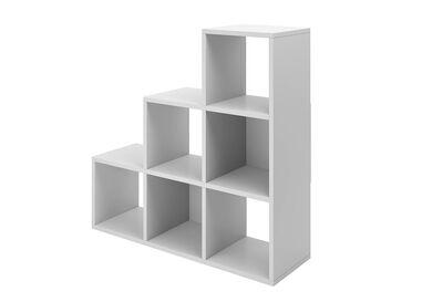 RAYMOND 6 Cube Step Bookcase - null