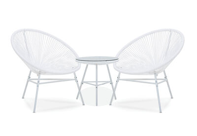 JOY - 3 Piece Outdoor Set with White Frame