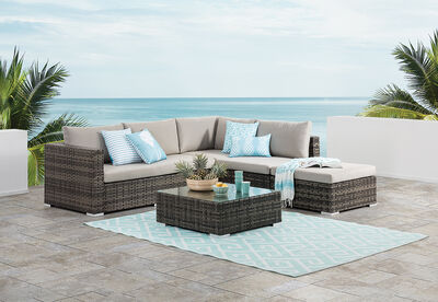 RIVA - Outdoor Bench Lounge with Coffee Table