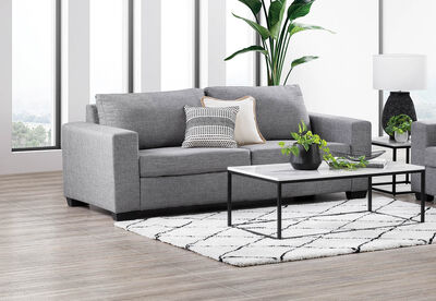 BONZA - Fabric 3 Seater Sofa