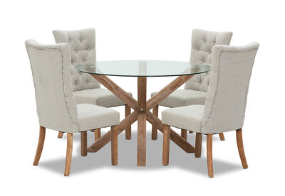 PROMENADE - 5 Piece Dining Suite with Nottingham Chairs