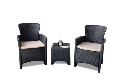 ARCHIBALD - Grey 3 Piece Outdoor Setting