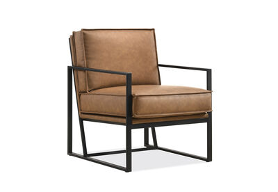 PARMA - Nut Brown Accent Chair