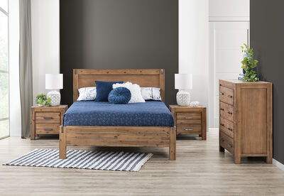 SILVERWOOD - 4 Piece King Tall Chest Bedroom Suite