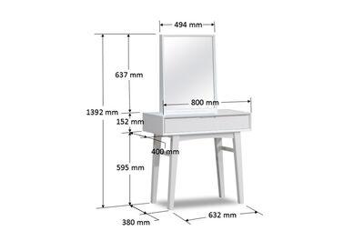 BELLEVILLE - White 800 Dresser with Mirror