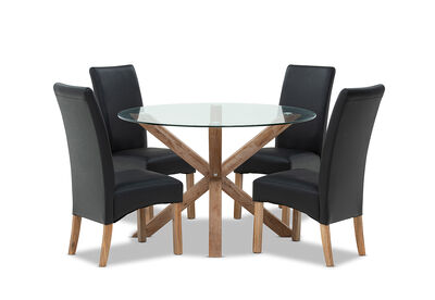 PROMENADE - 5 Piece Dining Suite with Silverwood MK2 Dining Chairs
